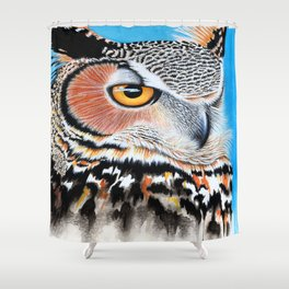 Great Horned Owl Eye Shower Curtain