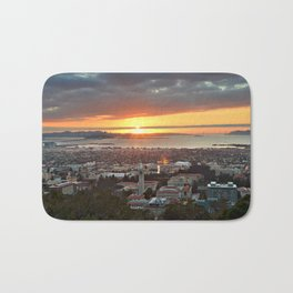 View of San Francisco Bay Area at Sunset from UC Berkeley Bath Mat