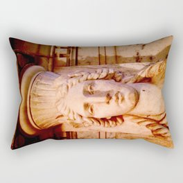 Classical Lady Stone Sepia Rectangular Pillow