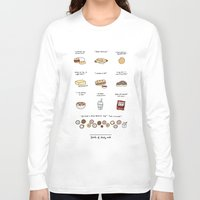 30 rock Long Sleeve T-shirts featuring Foods of 30 Rock by Tyler Feder