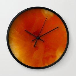 Textures (Orange version) Wall Clock