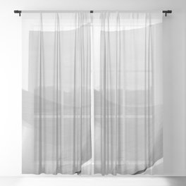 From the Inside Out Black And White Afternoon Vintage Retro Photography I Sheer Curtain