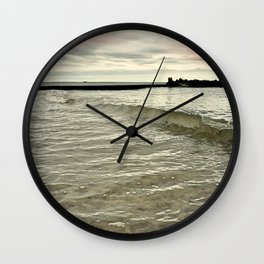 Sunset Crashing Wall Clock