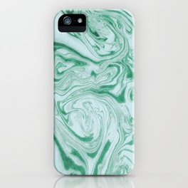 Marble Acrylic Jade Green iPhone Case