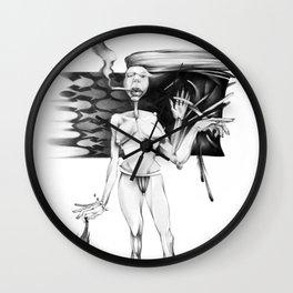 Smoking I wait. Wall Clock