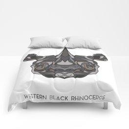 Western Black Rhinoceros Comforters