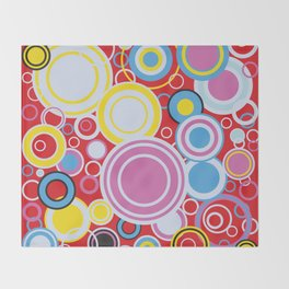 Pop Art Colour Circles Throw Blanket