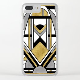 Up and Away - Art Deco Spaceman Clear iPhone Case