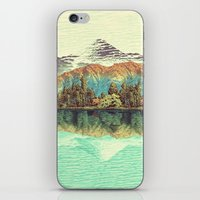 lake iPhone & iPod Skins featuring The Unknown Hills in Kamakura by Kijiermono