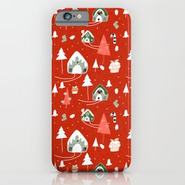 gingerbread house red #Christmas #Holiday iPhone Case