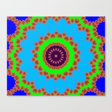Lovely Healing Mandalas in Brilliant Colors: Royal Blue, Green, Light Blue, Orange, Maroon and Pink Canvas Print