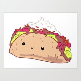 Happy Taco Art Print