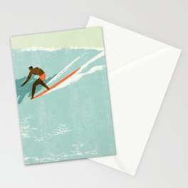 Riding giants Stationery Cards