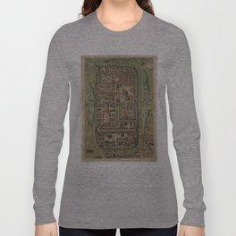 Vintage Map of Jerusalem Israel (1584) Long Sleeve T-shirt
