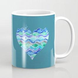 A Sea of Love (blue) Coffee Mug