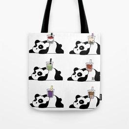 Wall of Boba Pandas Tote Bag