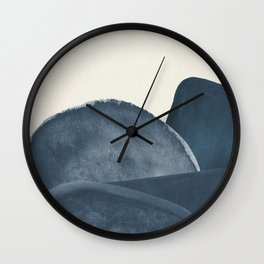 Blue Landscape Wall Clock