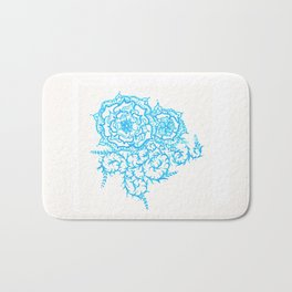 46. Thorns, Thistles, Nettles in Blue with Henna Rosa Bath Mat