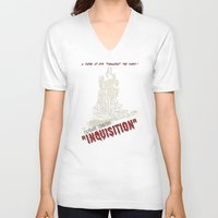 dragon age inquisition V-neck T-shirts featuring Inquisition by PsychoBudgie