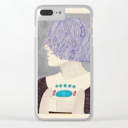 Wet Hair Clear iPhone Case