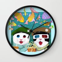 3d Wall Clocks featuring 3D by Tummeow