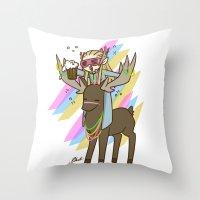 thranduil Throw Pillows featuring Party Thranduil by BlacksSideshow