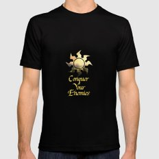 Conquer your Enemies Black LARGE Mens Fitted Tee