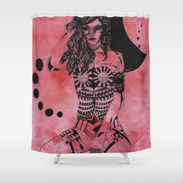 Cancer - Hand drawn Shower Curtain