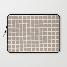 Strokes Grid - Off White on Nude Laptop Sleeve