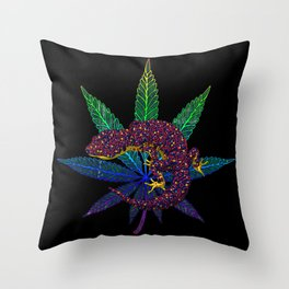 Gecko leaf Throw Pillow