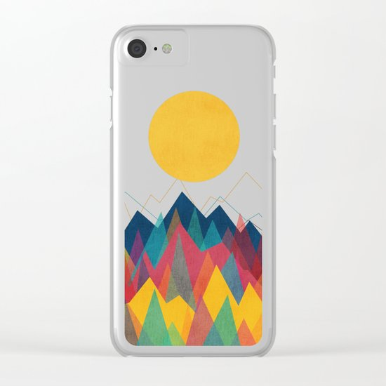 Uphill Battle Clear iPhone Case