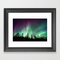 Colorful Northern Lights, Aurora Borealis Framed Art Print