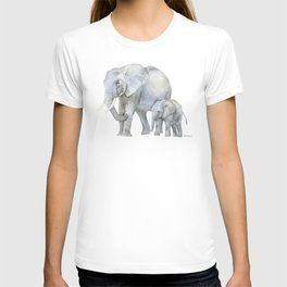 Mother and Baby Elephants T-shirt