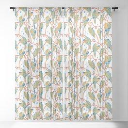 Flowing Vines Autumnal Sheer Curtain