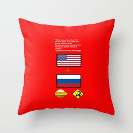 Mexico Wall is new Berlin Wall Throw Pillow