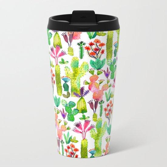 Cacti garden Metal Travel Mug