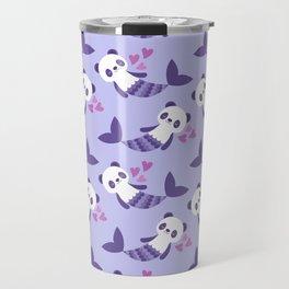 Cute purple merpandas Travel Mug