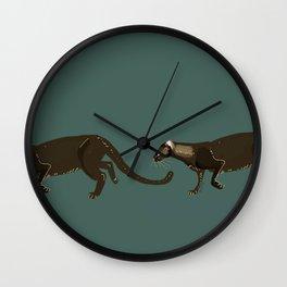 Carnivores of World: Jagouaroundi on blue (c) 2017 Wall Clock