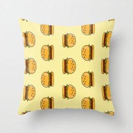 Delicious Hamburgers Throw Pillow