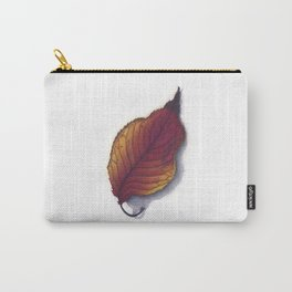 Cherry Leaf Watercolor Carry-All Pouch
