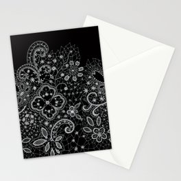 B&W Lace Stationery Cards