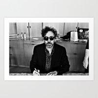 tim burton Art Prints featuring Tim Burton by Sergio Bastidas