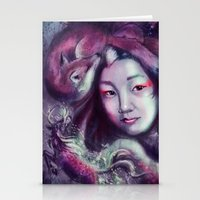 korea Stationery Cards featuring South Korea by Holly Carton