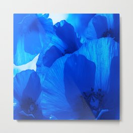 Blue Poppies #decor #society6 #buyart Metal Print