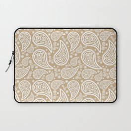 Paisley (White & Tan Pattern) Laptop Sleeve