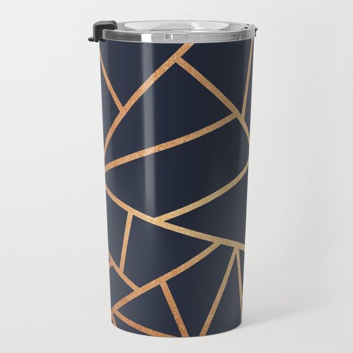 Copper and Midnight Navy Travel Mug