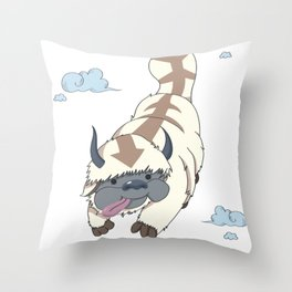The Last Flying Air Bison - Appa Throw Pillow