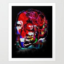 skull_mondrian Art Print