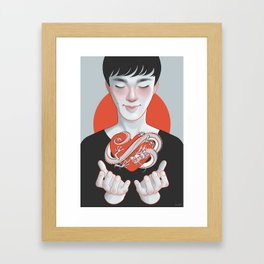 dragon heart Framed Art Print
