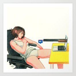 Attention Deficiency Art Print